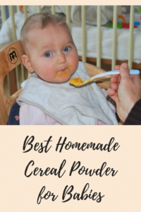 Best Homemade Cereal Powder for Babies