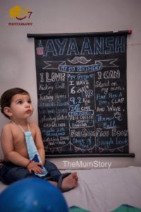 First Birthday Photoshoot Ideas - First Birthday Chalkboard