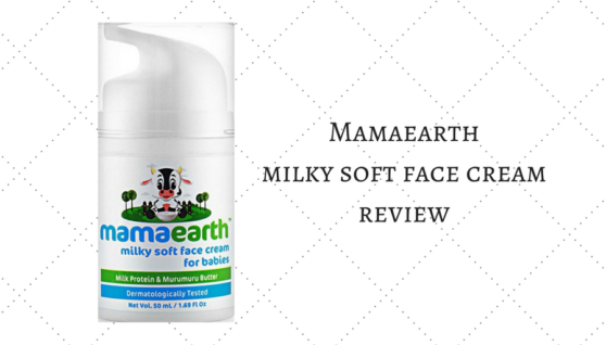 mamaearth milky soft face cream rview
