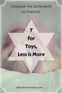 fewer toys