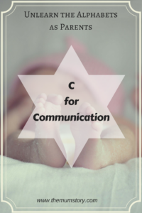 C for Communication, the Key to A Healthy Relationship